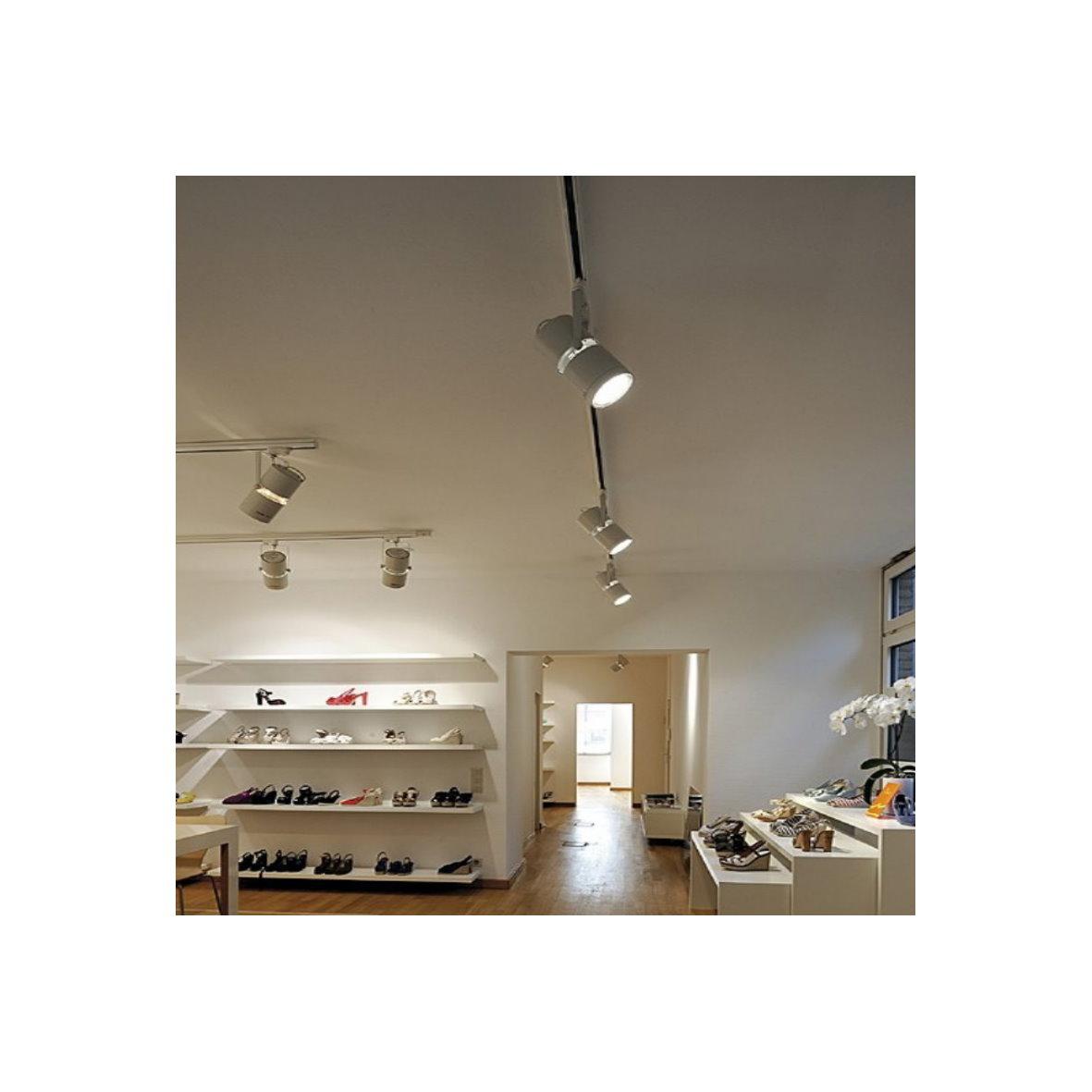 slv led 3 phasen spot strahler leuchte stromschiene. Black Bedroom Furniture Sets. Home Design Ideas