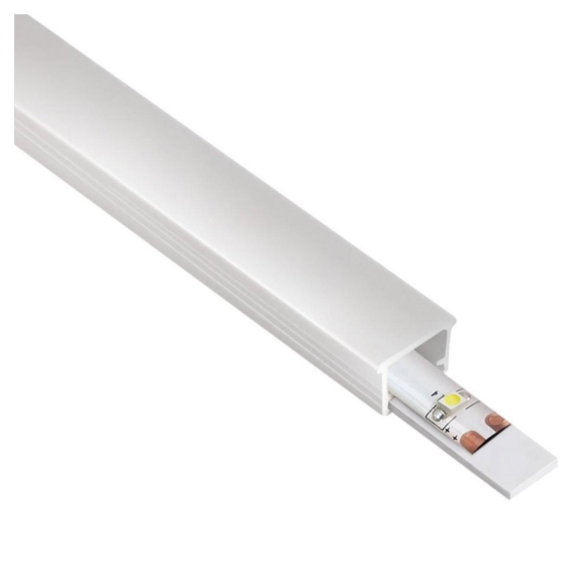 9 95 m einbau pvc profil leiste flexibel biegsam 2m opal f r led band ebay. Black Bedroom Furniture Sets. Home Design Ideas