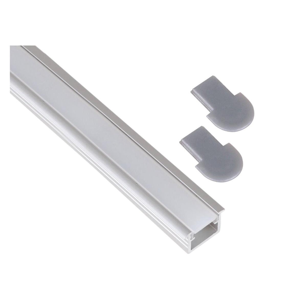 aluminium einbau profil leiste 1m eckig set abdeckung. Black Bedroom Furniture Sets. Home Design Ideas