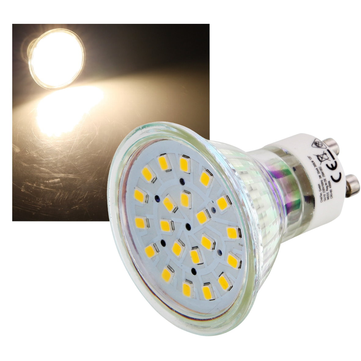 led spot leuchtmittel gu10 klar 3w 120 licht lampe strahler 230v smd ebay. Black Bedroom Furniture Sets. Home Design Ideas