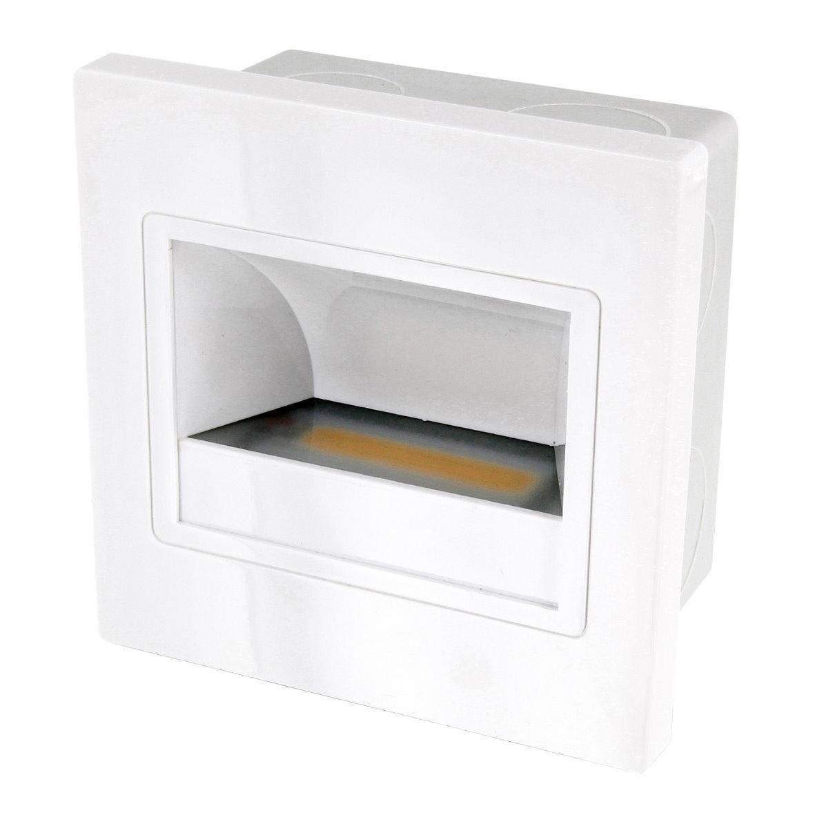 led cob wandeinbauleuchte 230v up dose einbauspot treppenlicht einbau leuchte. Black Bedroom Furniture Sets. Home Design Ideas