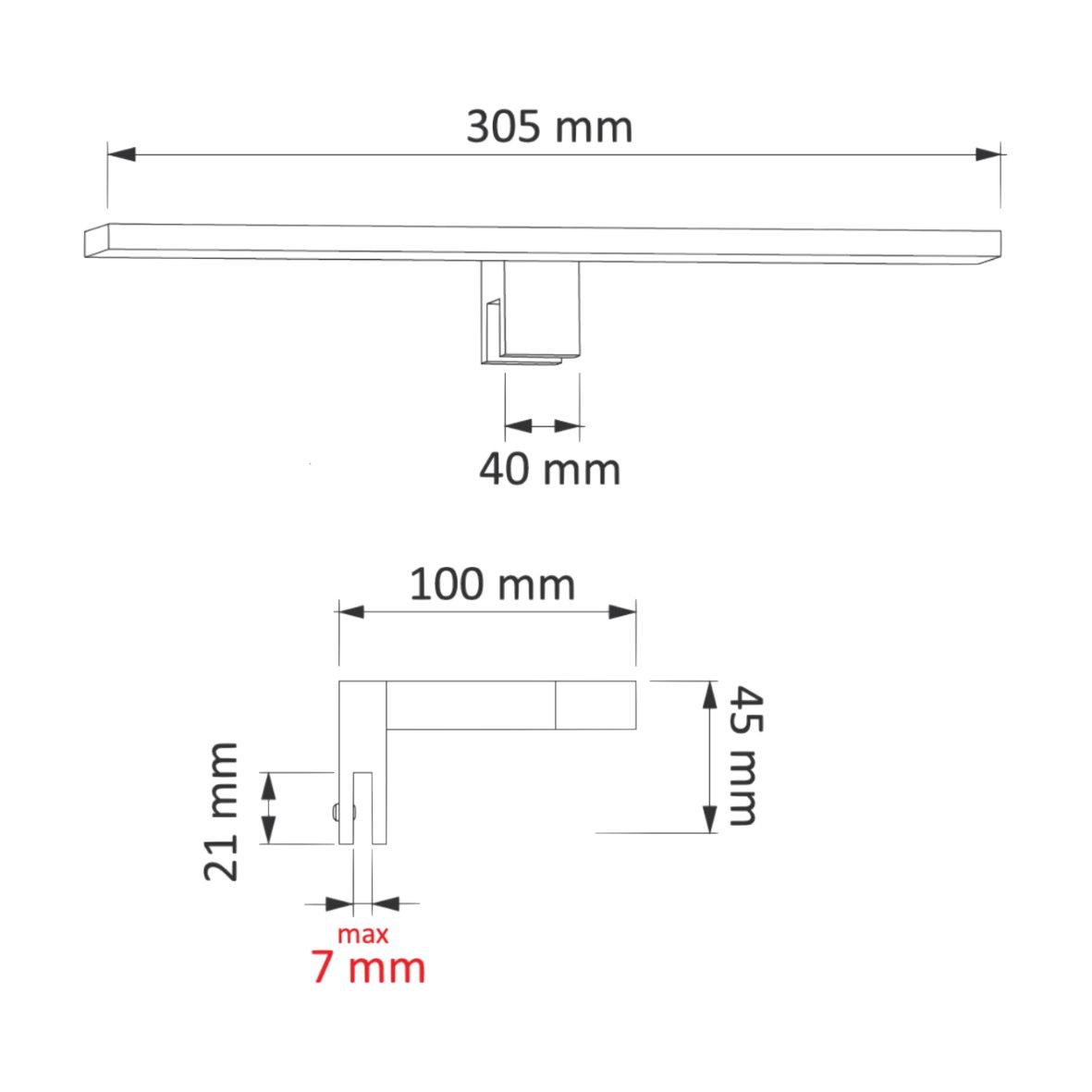 Led spiegelleuchte 4 5w ip44 230v aufsatzleuchte for Design artikel shop