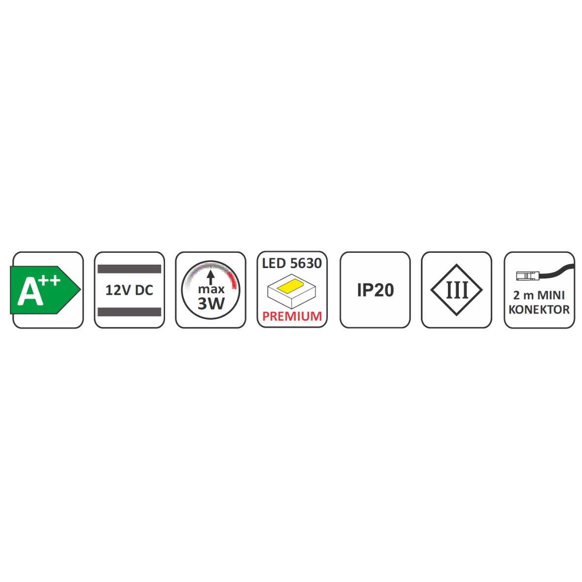 Led aufbauleuchte master slim xl 12v led clicksystem for Design artikel shop