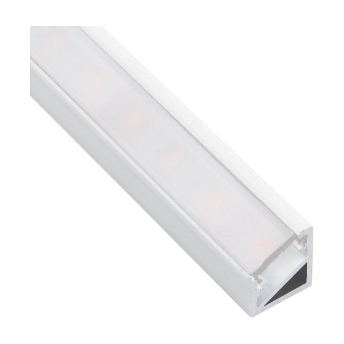 14 9 m alu profil 2m abdeckung f r led streifen strip lichtband aluminium ebay. Black Bedroom Furniture Sets. Home Design Ideas