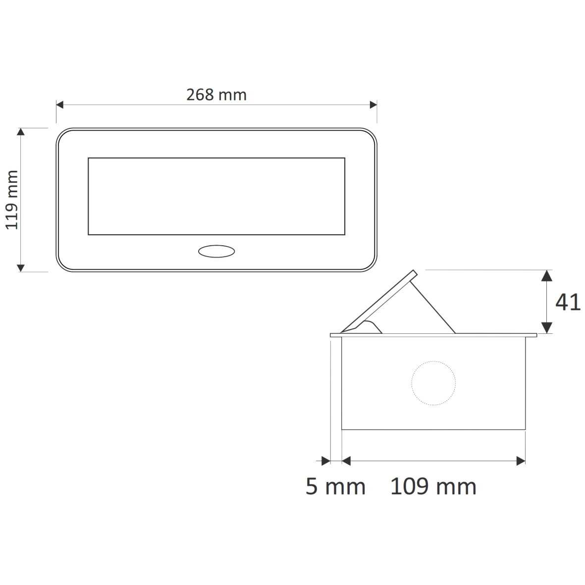 Versenkbare aluminium einbausteckdose 3 fach silber for Design artikel shop