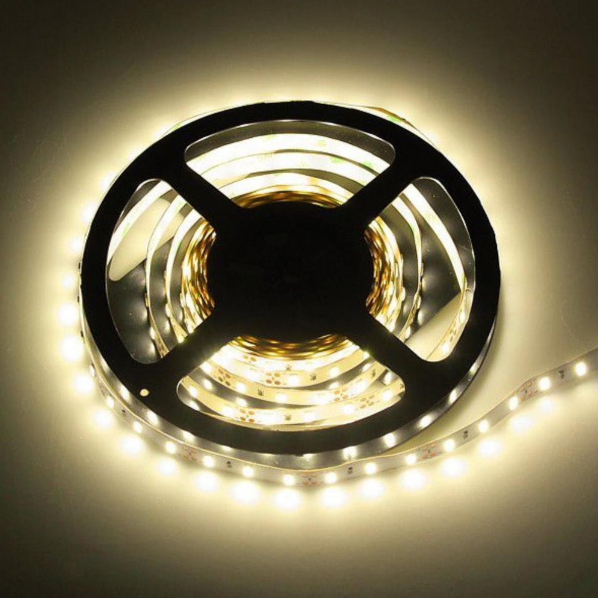 5 98 eur m led stripe 5m dimmbar 30w 2500lm 300 x 3528 smd lichtband rolle ebay. Black Bedroom Furniture Sets. Home Design Ideas