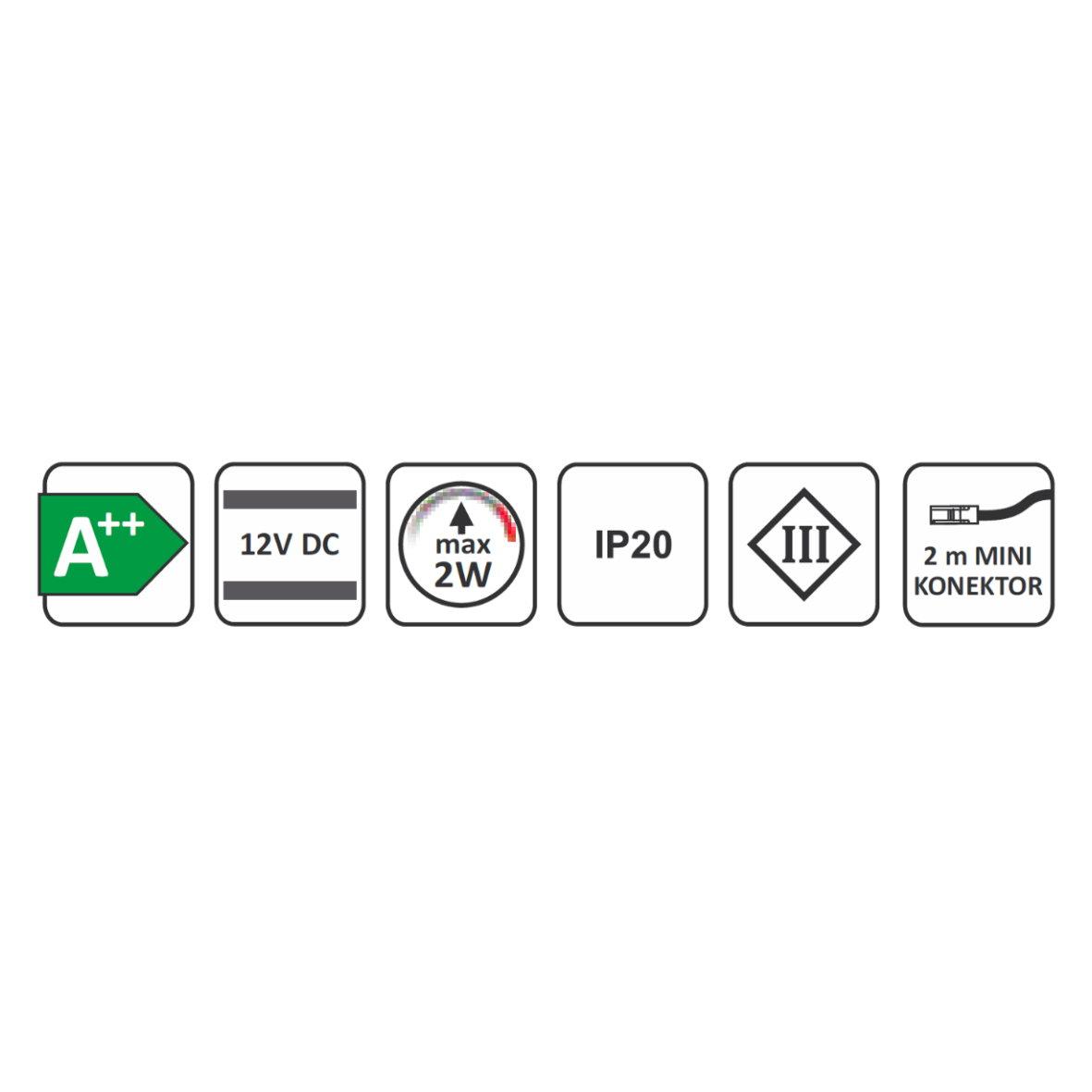 Led aluminium aufbaustrahler dimmbar 2w 120lm unterbau for Design artikel shop