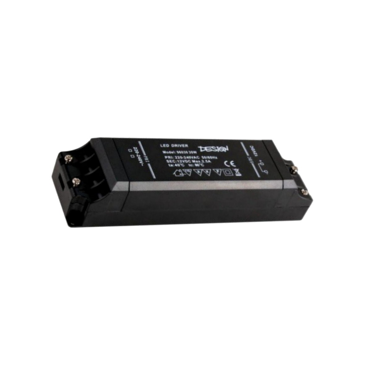 led transformateur dc 12v 6w 50w black compact bloc d 39 alimentation transformateur adaptateur. Black Bedroom Furniture Sets. Home Design Ideas