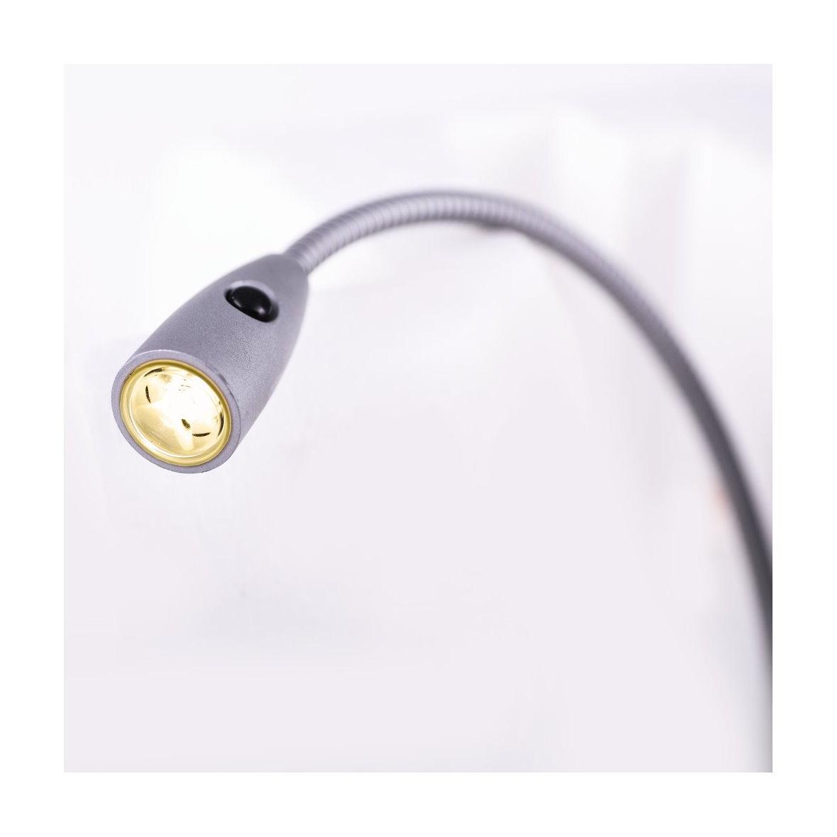 led aluminium leseleuchte mit netzstecker 27745. Black Bedroom Furniture Sets. Home Design Ideas