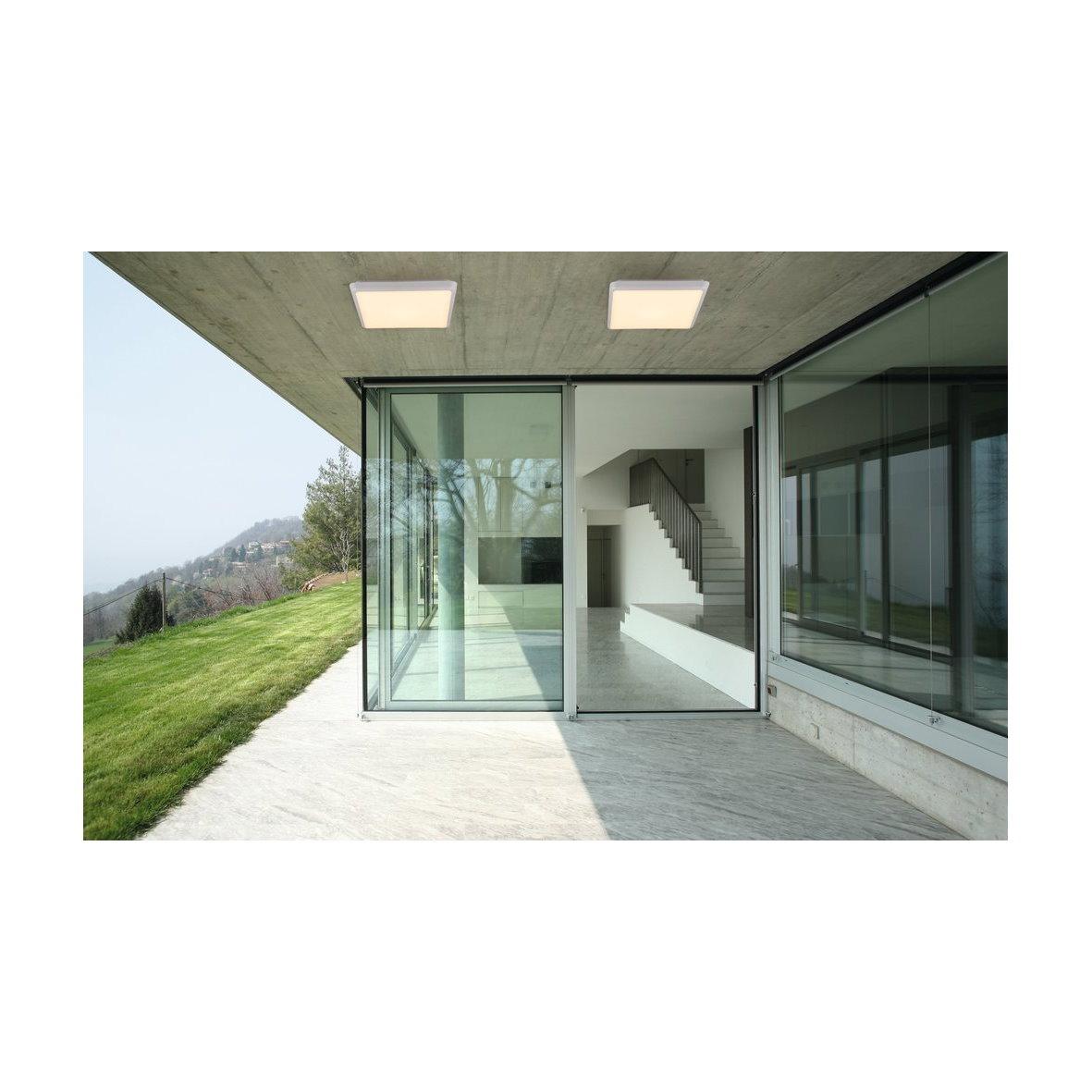 heitronic led deckenleuchte panel ip44 eckig 25w. Black Bedroom Furniture Sets. Home Design Ideas