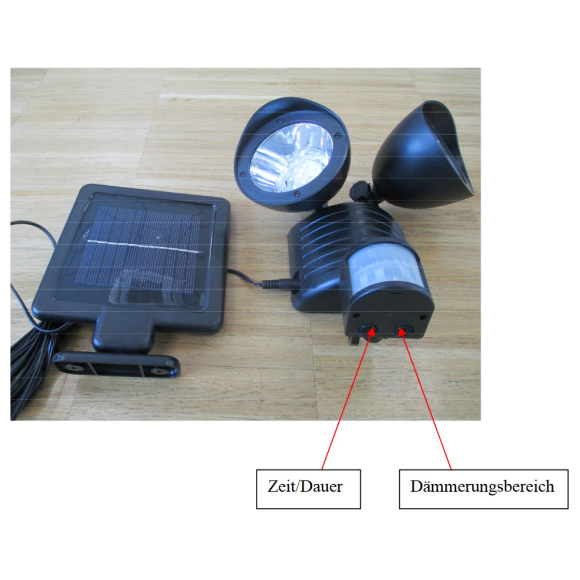led solar wandleuchte ip44 mit bewegungsmelder 35414. Black Bedroom Furniture Sets. Home Design Ideas
