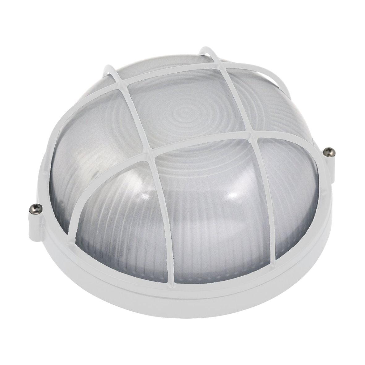 aluminium kellerleuchte kellerlampe bulkhead ip54 keller lampe leuchte aussen. Black Bedroom Furniture Sets. Home Design Ideas