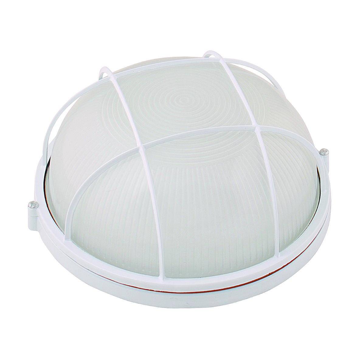 aluminium kellerleuchte kellerlampe bulkhead ip54 keller lampe leuchte aussen ebay. Black Bedroom Furniture Sets. Home Design Ideas