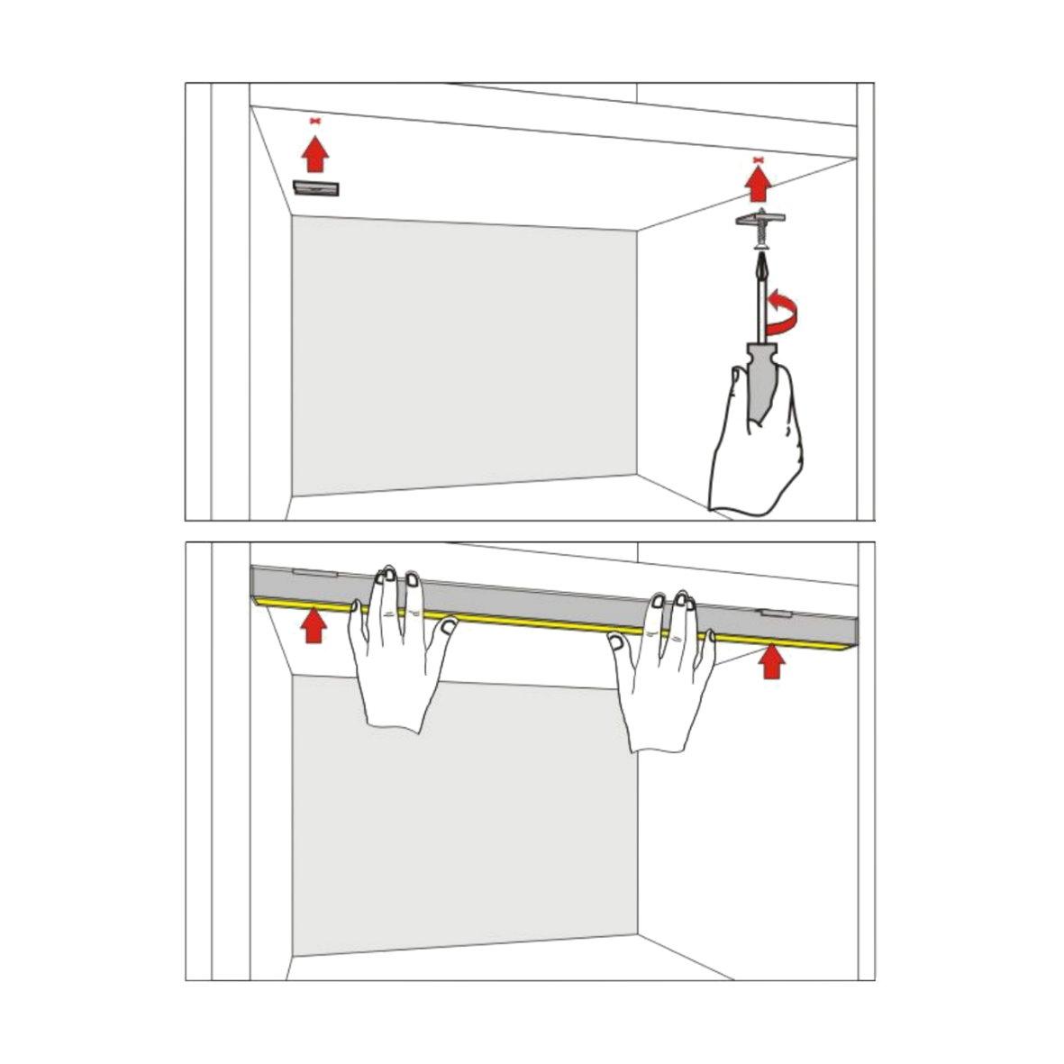 alu profil wei eloxiert 2m flach set abdeckung opal. Black Bedroom Furniture Sets. Home Design Ideas