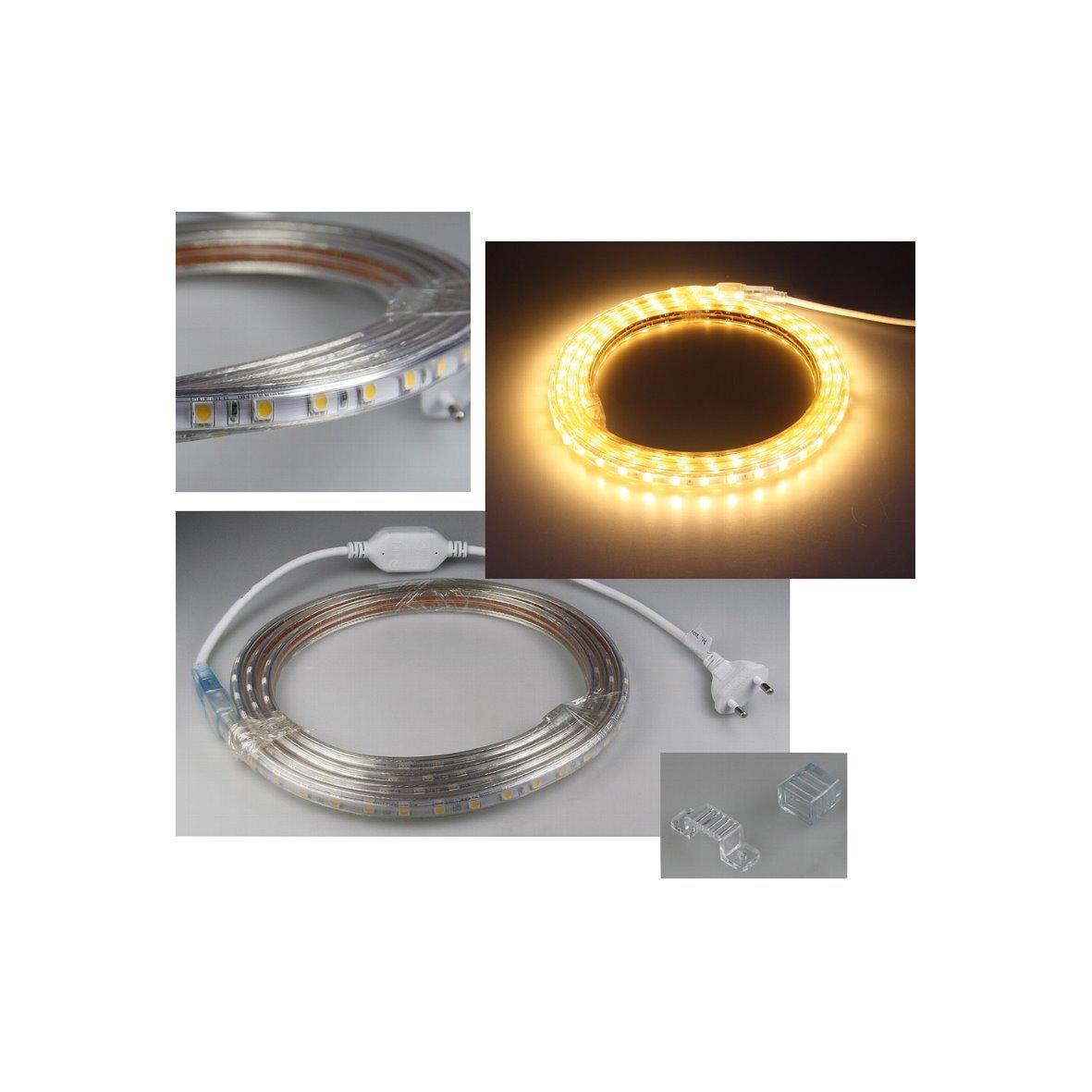 Led Stripe Ip44 230v Anschlussfertig Mit Stecker Lichtband