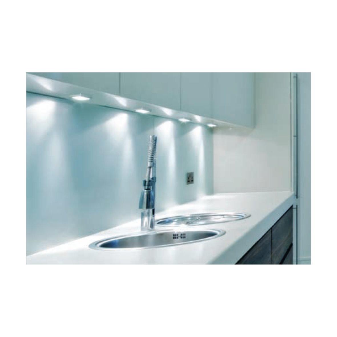 led aufbauleuchte alu lampe m bel k che aufbau unterbau leuchte strahler click ebay. Black Bedroom Furniture Sets. Home Design Ideas
