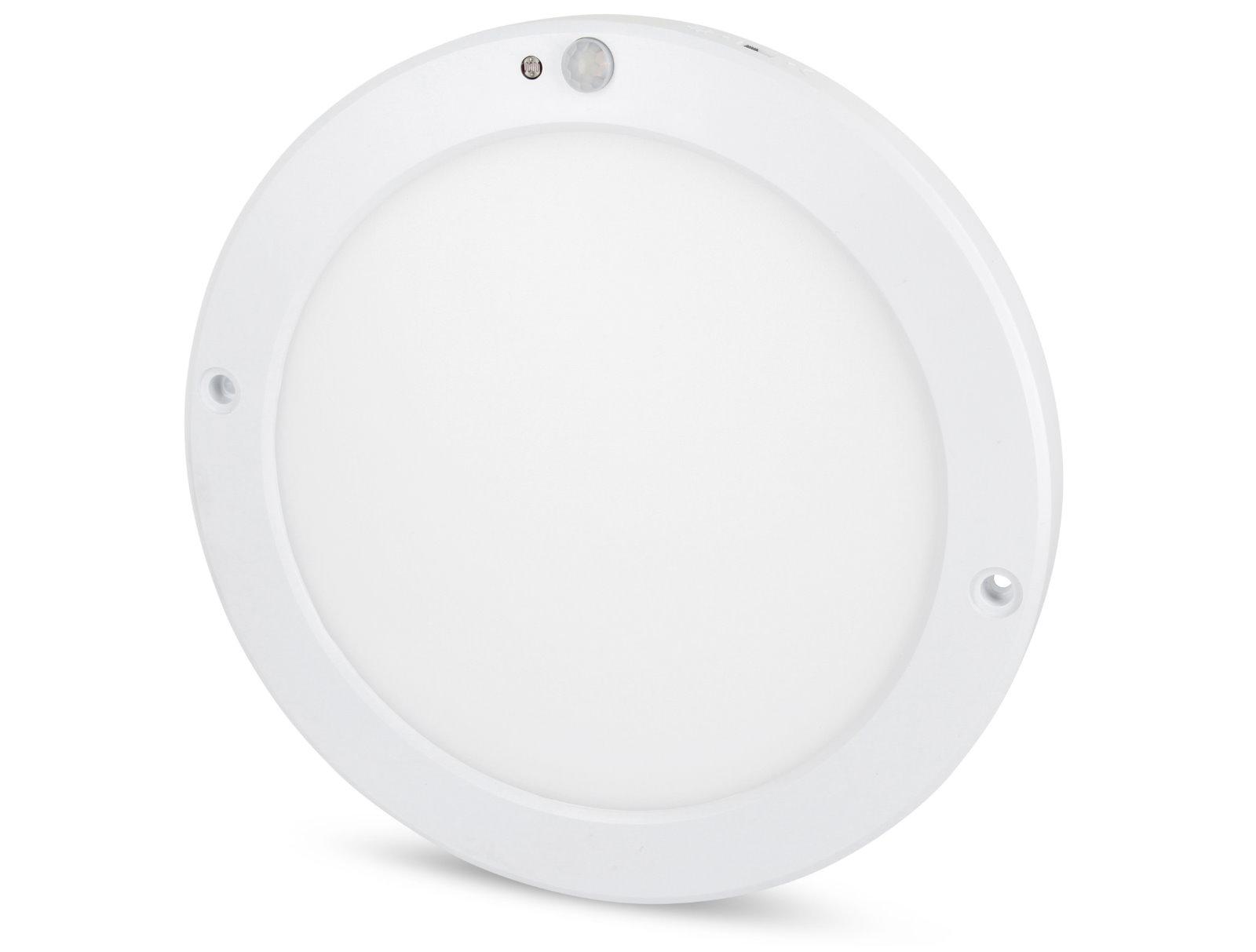 Ultraslim LED Aufbau Panel 18W rund - mit Bewegungsmelder
