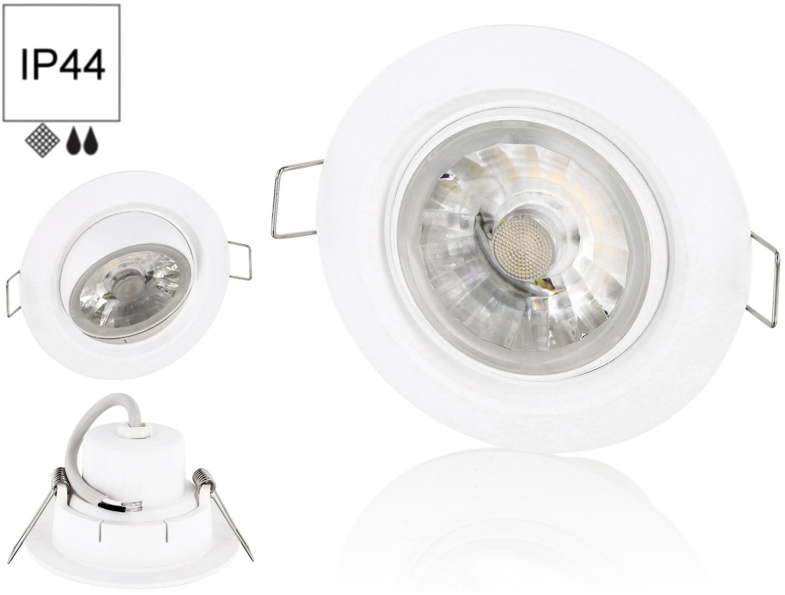 bioledex-dekto8W Fabelhafte Feuchtraum Led Einbaustrahler 230v Dekorationen