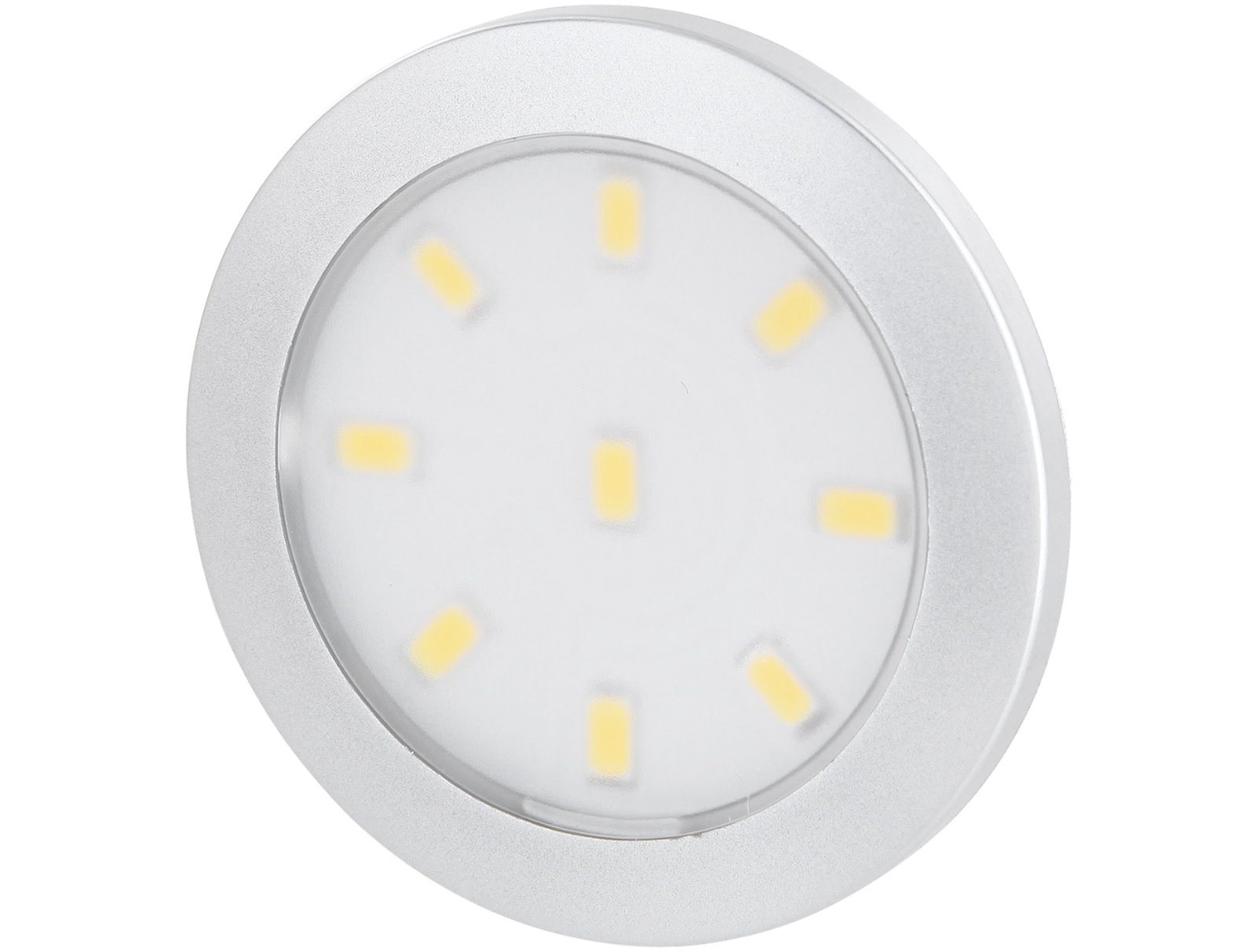 LED Slim Aufbaustrahler silber - 12V Mini-AMP
