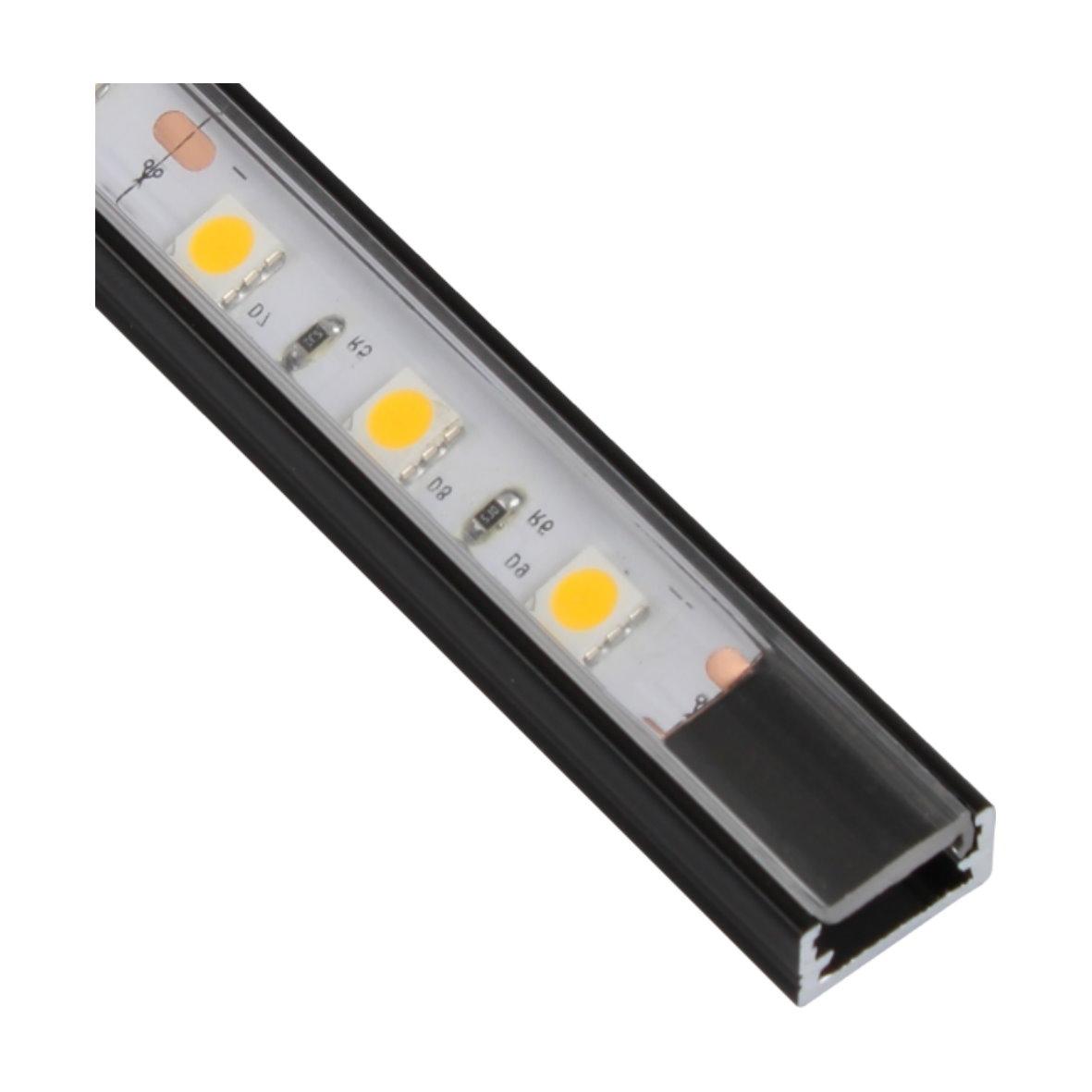 Aluprofil eloxiert Black & White - für LED Lichtband