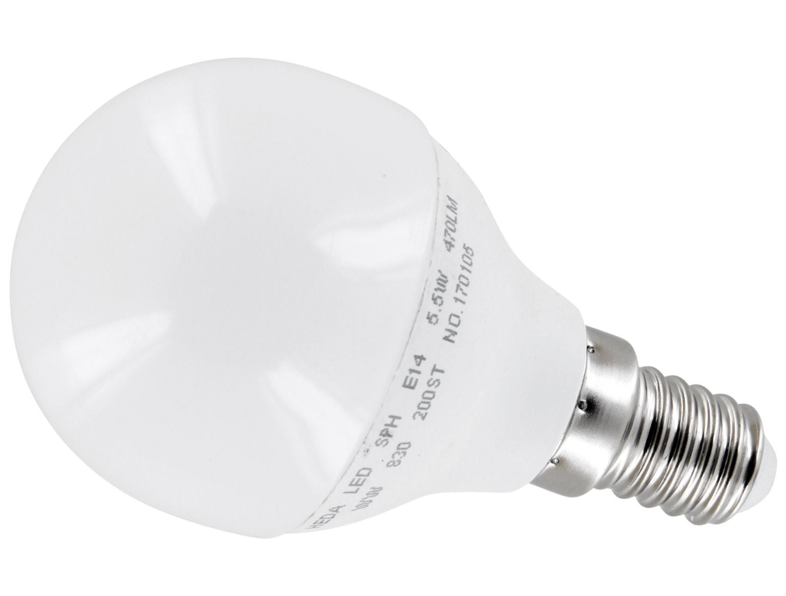 LED Birne P45 E14 5,5W - warmweiß