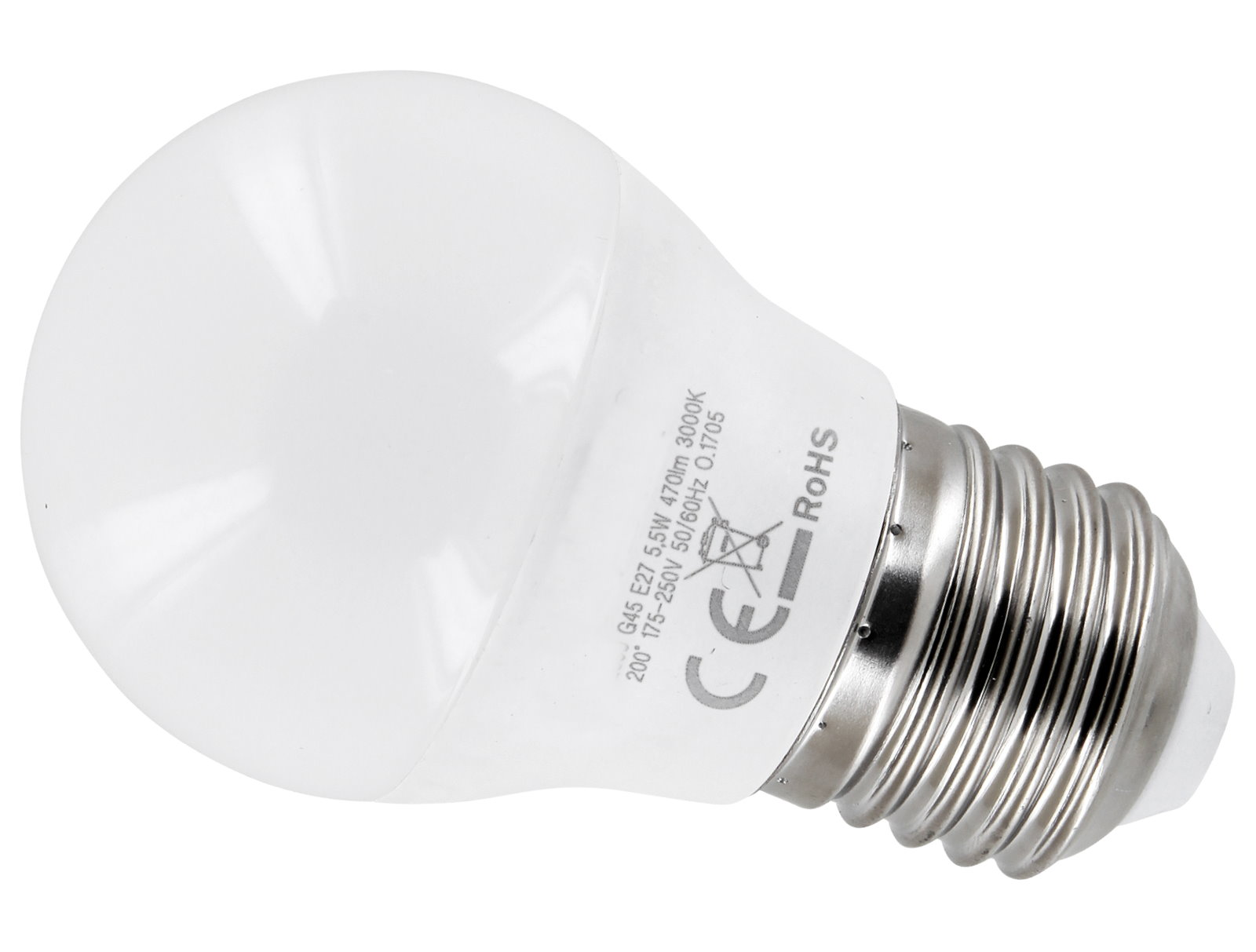 LED Birne G45 E27 5,5W - warmweiß
