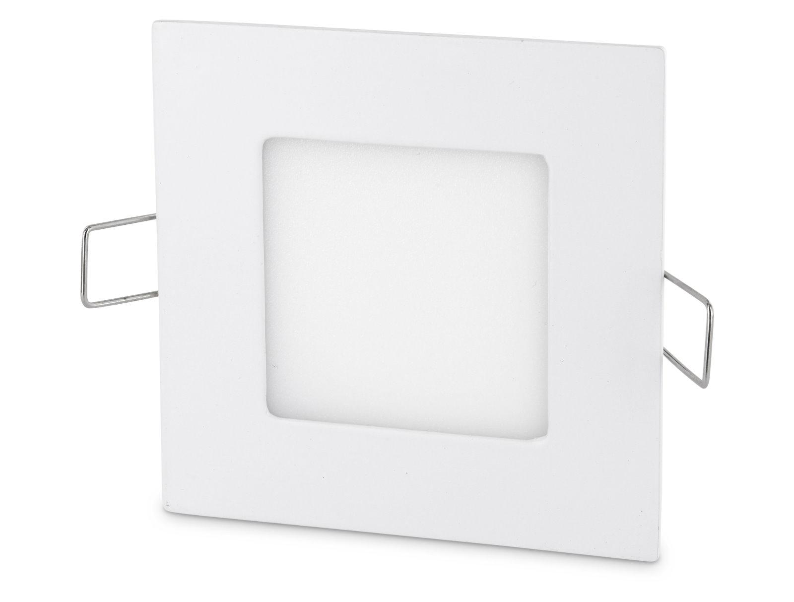 LED Slim Aluminium Einbaustrahler - 3W eckig