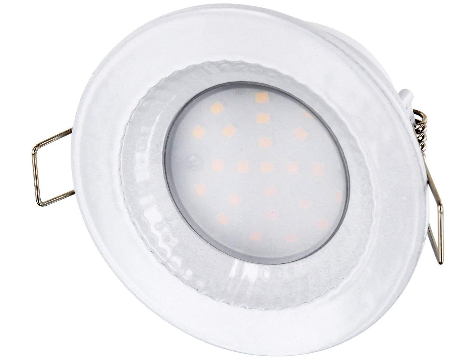 LED Einbaustrahler IP54 Druckguss weiß - 230V tagesweiß