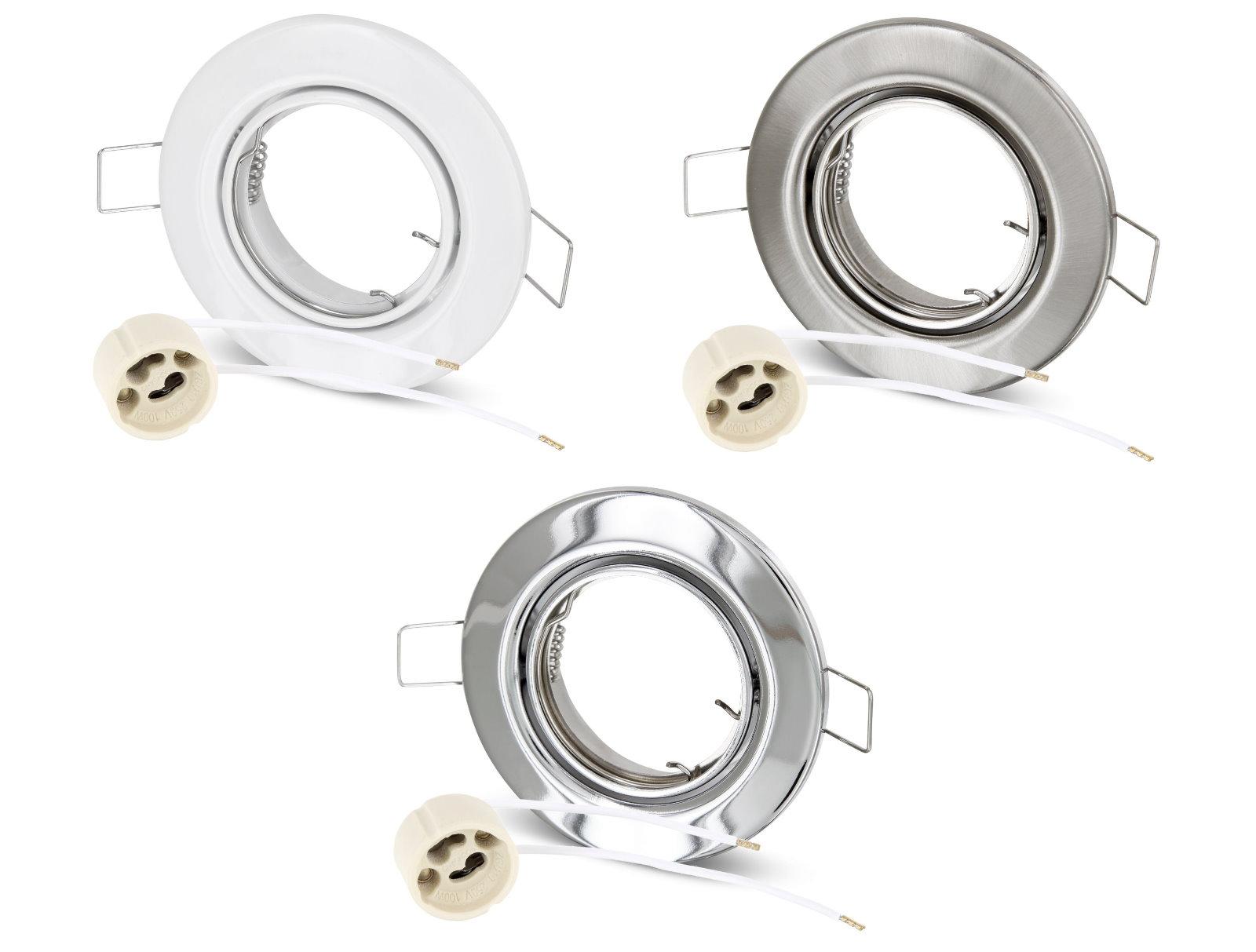 Spot Einbaurahmen GU10 Metall - schwenkbar