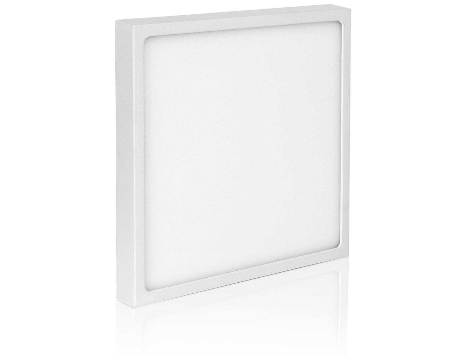 Ultraslim LED Aufbau Panel 230V - Aluminium-Druckguss - 12W Eckig