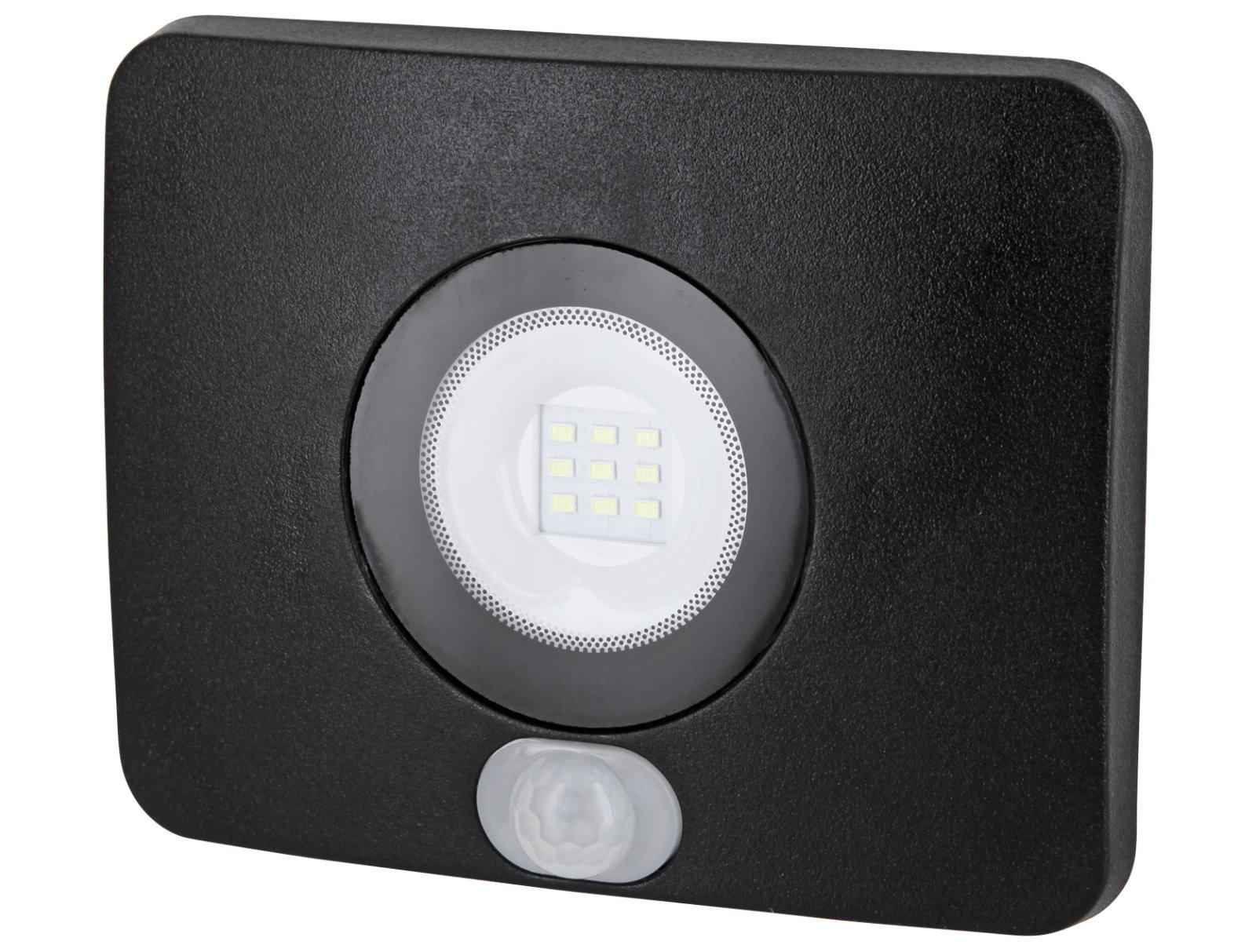 LED Slim Aussenfluter IP65 mit Sensor - 10W kaltweiß