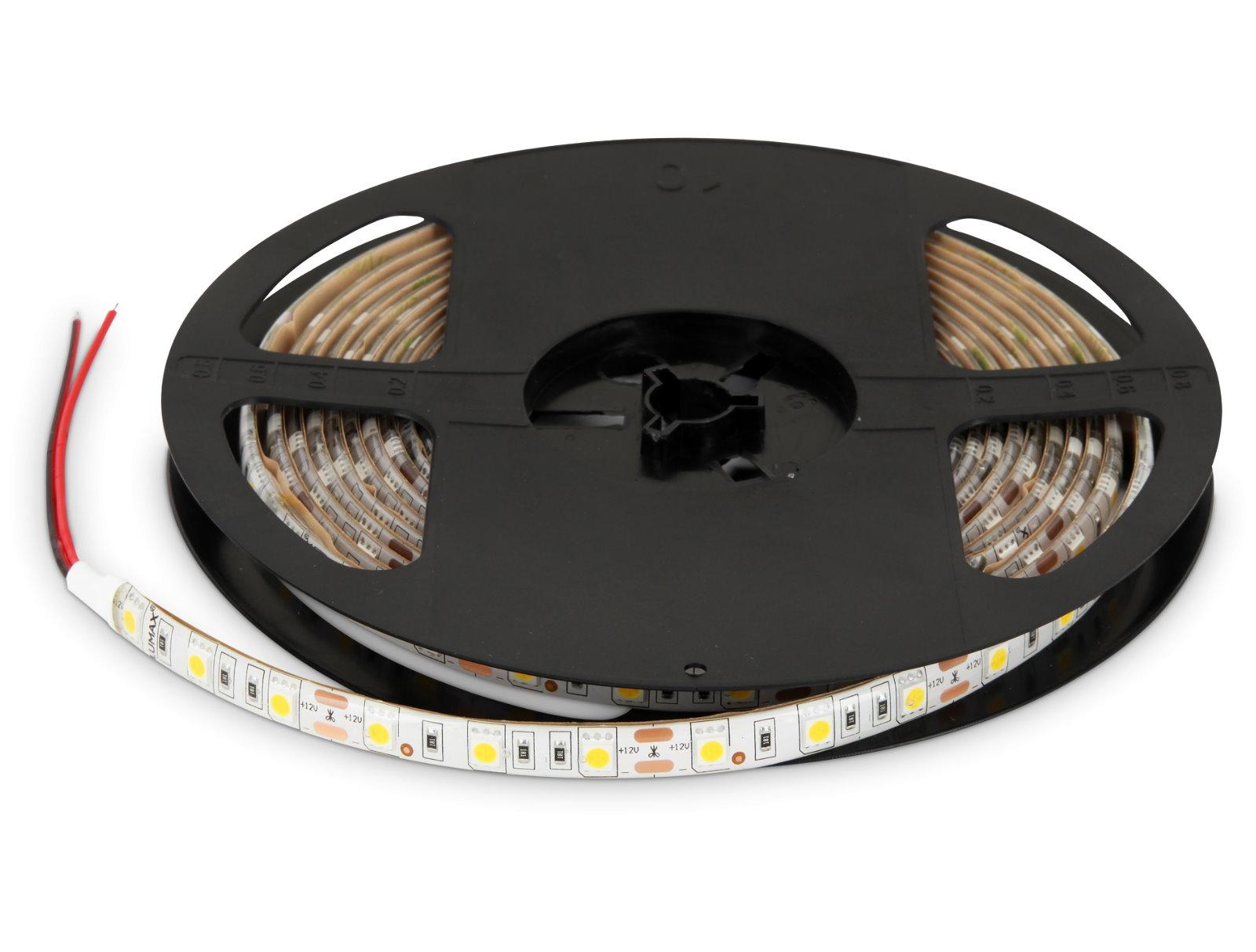 LED Stripe 5m 12V dimmbar IP65 - 72W 300x5050 warmweiß