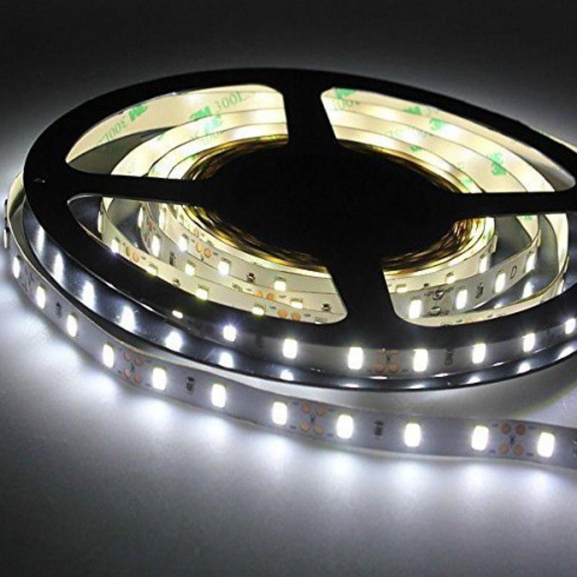 led stripe 5m 12v dimmbar 24w 300x3528 kaltwei. Black Bedroom Furniture Sets. Home Design Ideas